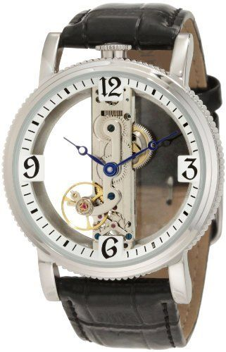 Akribos XXIV Men's AKR478SS Round Viaduct Mechanical Skeleton Strap Watch Akribos XXIV. $116.00. A coin edge bezel and genuine calfskin leather strap make this timepiece a great addition to your formal or everyday wardrobe.. Stylish and sophisticated men's watch. Watch arrives in a Akribos XXIV gift box complete with a 2 year limited warranty. Round coin edge case with bridge movement.. This classic timepiece from Akribos XXIV showcases a stunning bridge style mechanical movement.