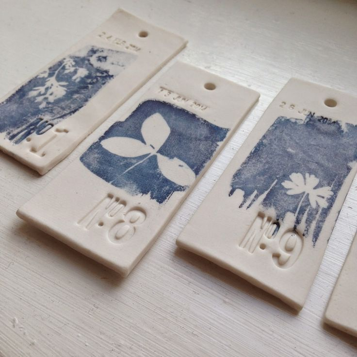 Love these tiles by Hannah Lamb: White labels.