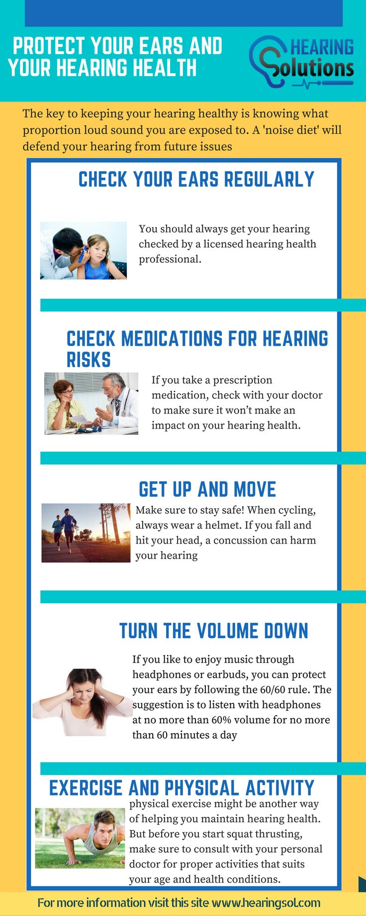 By using the hearing protection you can protect your hearing. Some of the hearing protections are earplugs or earmuffs. You can protect your hearing in various ways such as turn the volume down, keep your ears dry, quit smoking, manage stress level etc. For more visit:- https://www.hearingsol.com