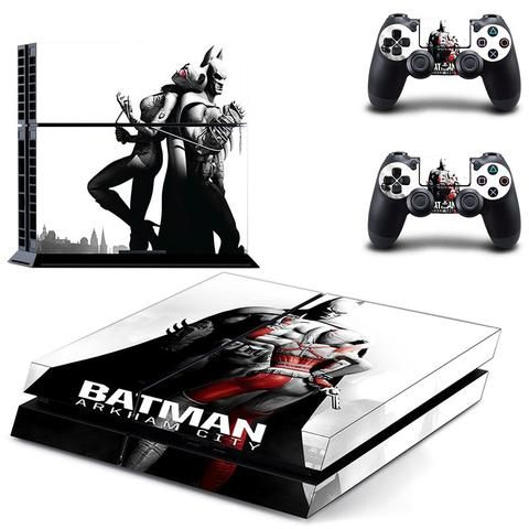 Batman Arkham City ps4 skin decal for console and controllers - Decal Design