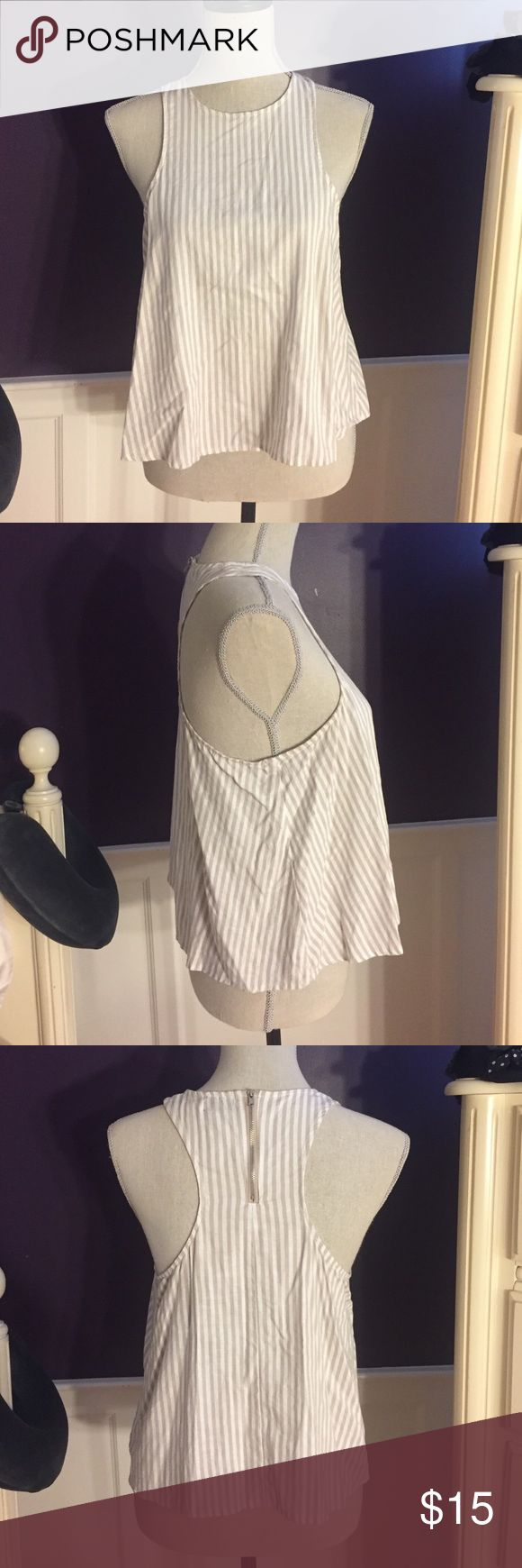 Urban Outfitters BDG Striped tank Urban Outfitters BDG Striped tank. Size: medium. White and tan stripes. Like new. Urban Outfitters Tops Tank Tops