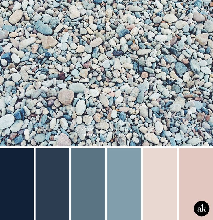 a rock-inspired color palette // navy, indigo, ocean blue, peach (nude), pink