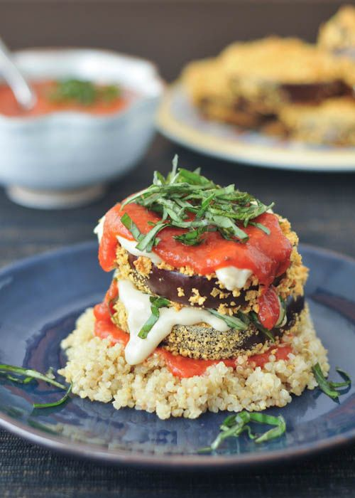 Get high (you know, like, tall) with these towering Crispy Eggplant Stacks.