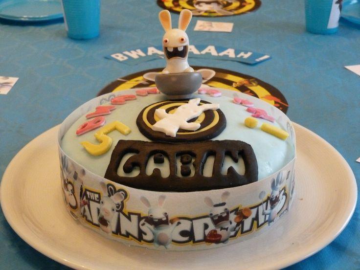 """Gâteau anniversaire """"lapin crétin"""""""