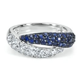 Twist Lab-Created Sapphire Ring - September - Birthstones - Jewelry - Helzberg Diamonds