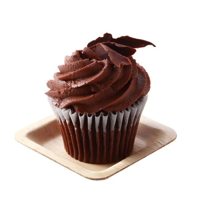 Small 4 inch bamboo leaf plate showcasing chocolate cupcake. These plates can be used for  sc 1 st  Pinterest & 60 best Amuse Bouche images on Pinterest | Catering Food truck and ...
