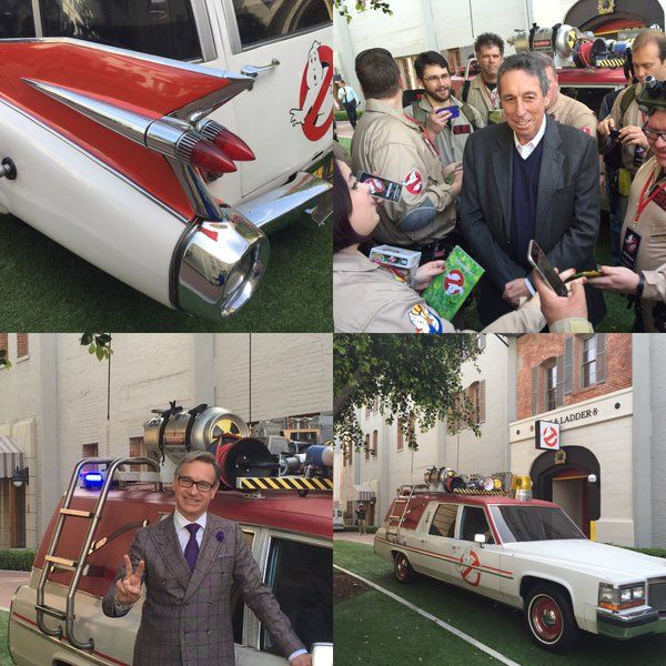 At Sony Pictures studio today in Culver City California to preview the new Ghostbusters 3 movie trailer which comes out March 3rd. Also got to meet & interview directors Paul Feig and Ivan Reitman, the latter who directed the original Ghostbusters film 30 years ago. #Ghostbusters