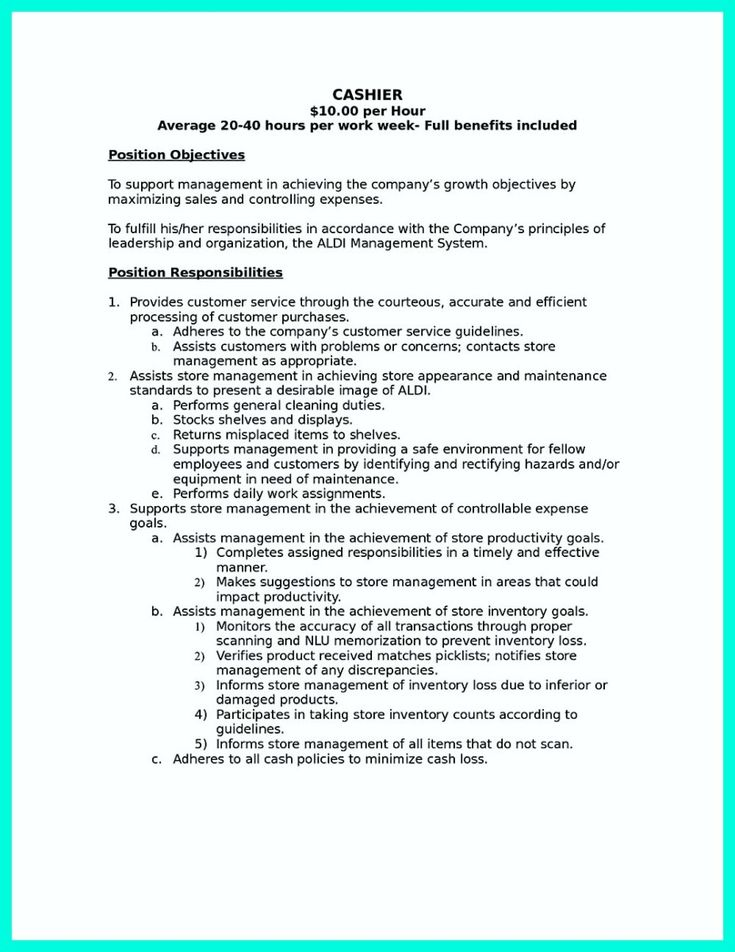 list of skills for resume grocery store