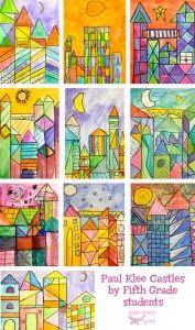 Châteaux à la manière de Paul Klee - chd école