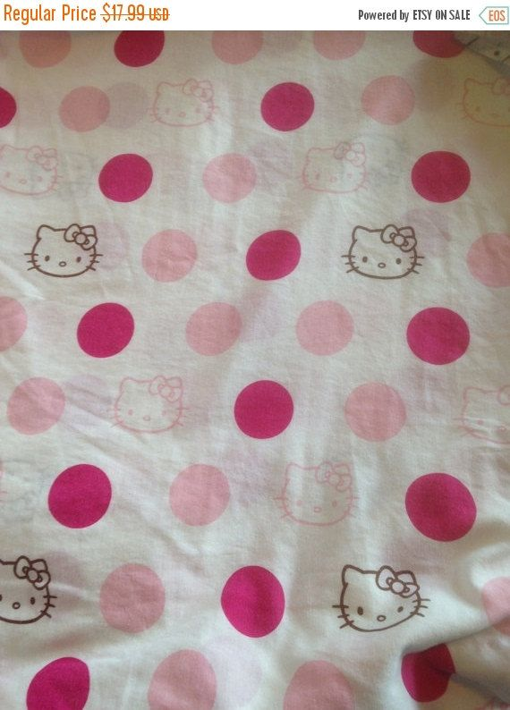 CLEARANCE SALE 50% OFF: Hello Kitty Vintage Twin Fitted Sheet by CellarDeals on Etsy
