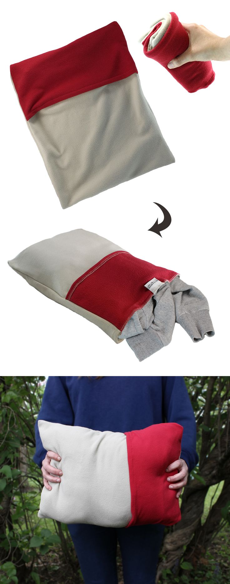 The Nomad Pillow Case by Mntn & Moon was made for the minimalist traveler. Simply stuff with spare clothing or jacket for an instant pillow! Perfect for backpacking or camping trips. Bring one with you on planes and trains!