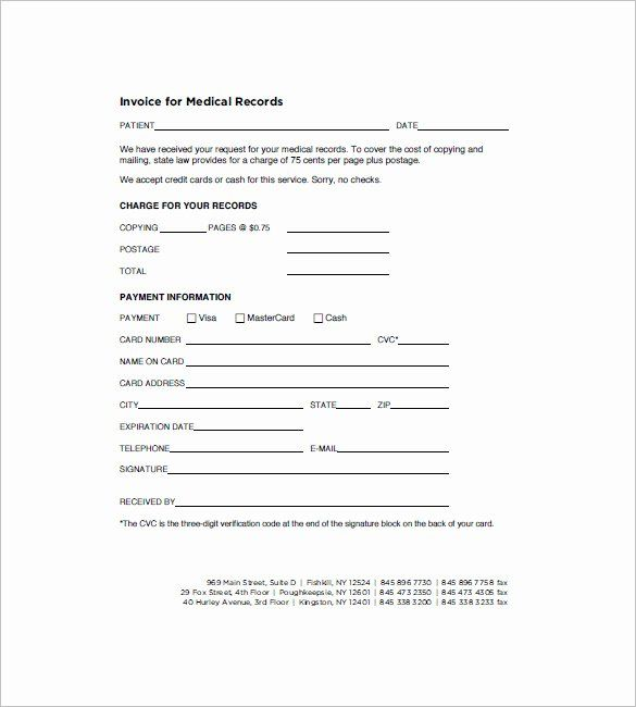 Medical Records Forms Template Best Of 16 Medical Invoice Templates Doc Pdf Invoice Template Invoice Layout Medical Records