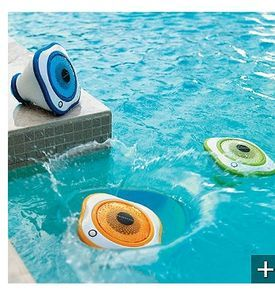 Waterproof speakers. We need these for our white trash pool!!