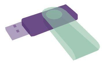 USB-minnen med tryck och logo från Dixa tryckeri i Stockholm