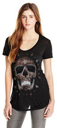 Metal Mulisha Junior's Spade Graphic T-Shirt - Shop for women's T-shirt - Black T-shirt