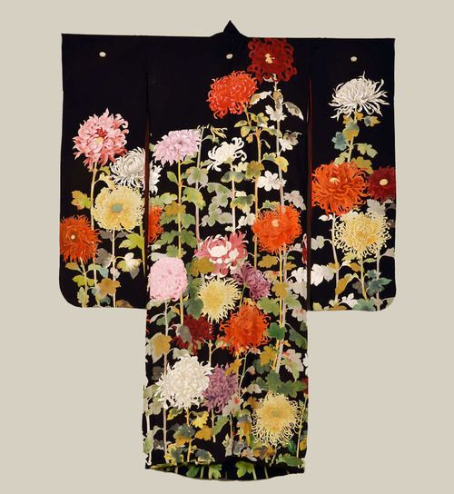 Early 20th century silk furisode. Japan