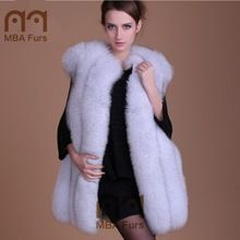 MBA Furs Supplier Russian Style Winter Fox Fur Vest For Women Best Buy space