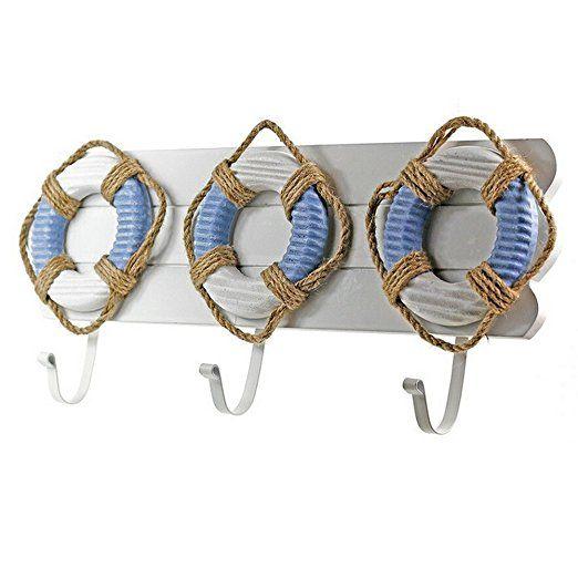 Duolaimi Decorative Hooks Mediterranean Creative Home wall hooks Coat Racks...: Amazon.co.uk: Kitchen & Home
