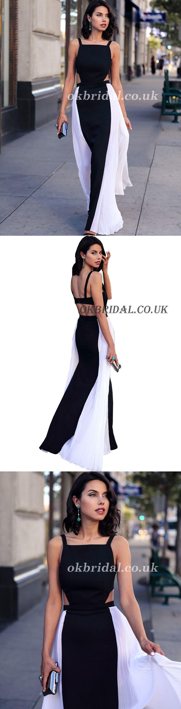 Unique Prom Dress, Square Neckline Prom Dress, Sexy Prom Dress, Sleeveless Prom Dress