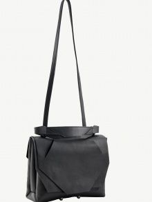 Medium slashed flap bag by Linda Sieto