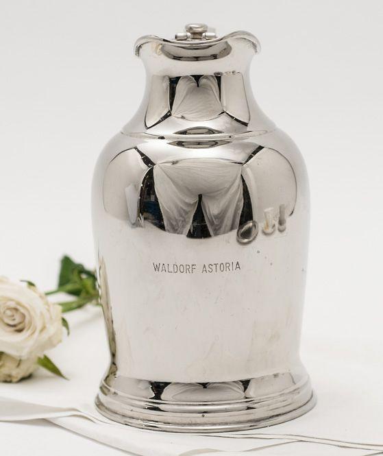 Vintage waldorf astoria nyc beverage pitcher hotel for Waldorf astoria antiques