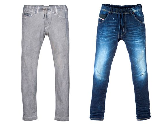 Diesel Jogg Jeans.  Believe it or not, these are sweatpants and can be worn as pajamas.