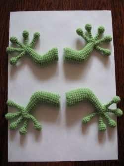 Вязание крючком: Ящерица (пошаговые фото вязания)