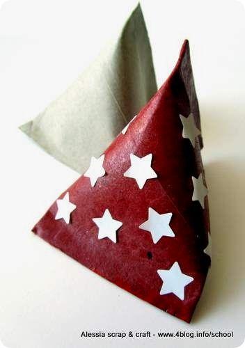 Tube en carton ---> berlingot : ce sachet est connu, mais j'ai ADORE ce rouge et les étoiles blanches !