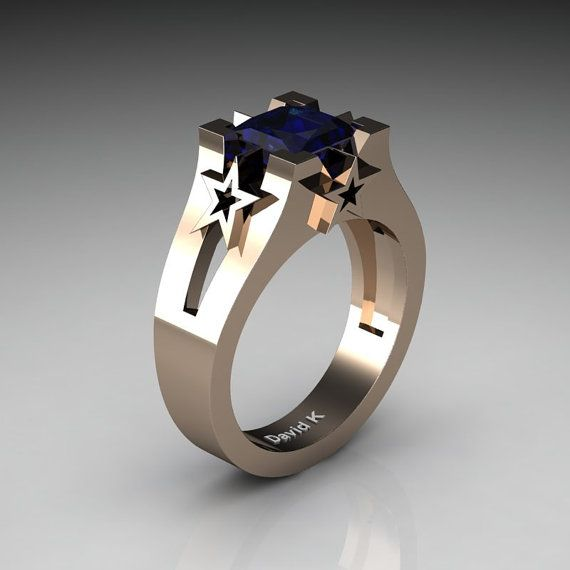 Dallas Cowboys Mens Modern 14K Rose Gold 2.0 от DavidKDesigns