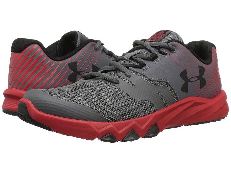 Under Armour Kids UA BGS Primed 2 (Big Kid) Boys Shoes Graphite/Red/Black