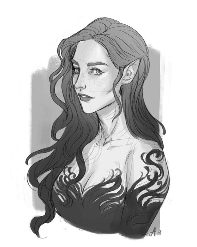 """405 Likes, 5 Comments - I FOLLOW BACK (@night_court.rhys) on Instagram: """"Depiction of Feyre Tumblr artist: Ak-draws South Korea is absolutely amazing! Right now I'm at a…"""""""