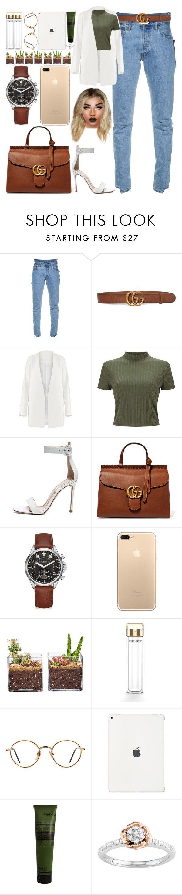 """*1857"" by asoc10 ❤ liked on Polyvore featuring Vetements, Gucci, Non, Miss Selfridge, Gianvito Rossi, Michael Kors, Shop Succulents, GlassesUSA, Aesop and 18"