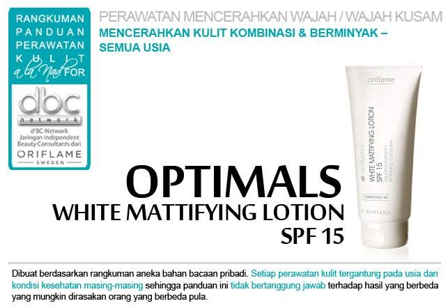 Optimals Wite Mattifying lotion #Oriflame #dBCNetwork