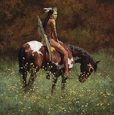 """""""Color of Sun"""" by Howard Terpning"""