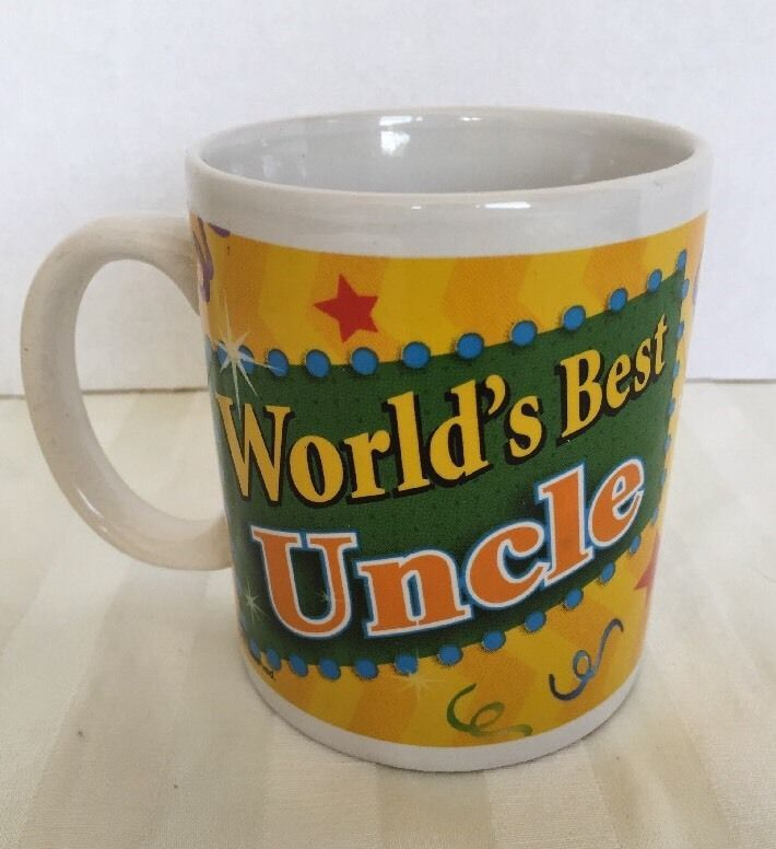 World's Best Uncle Coffee Mug Tea Cup Yellow Green Blue Fathers Day Gift #Unbranded