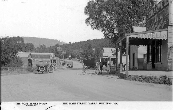 The Main Street, Yarra Junction. Looks like something out of a cowboy western movie