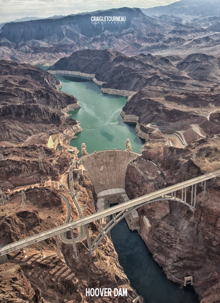 View of Hoover Dam from a helicopter...
