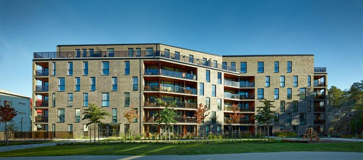Kjellander + Sjöberg Architects - Annedal Terraces - Western elevation