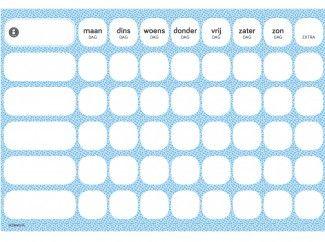 gezinnig weekly blauw   gratis #weekplanner