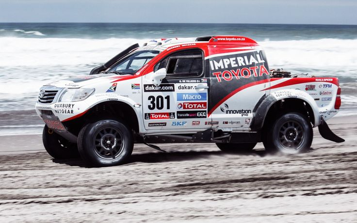 Download Wallpaper Sand, Dune, Side view, White, Rally, Dakar, Sea, Beach, SUV, Race, Rally, Machine, 2014, Auto, Toyota, 301, Speed, Sport, section toyota Resolution 1280x800