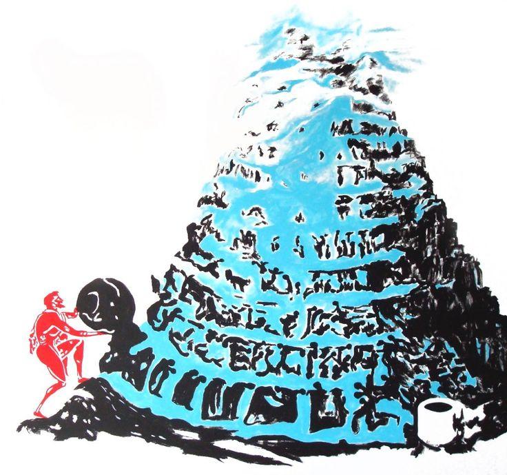 Hervé Fischer - Sisyphe au pied de la Tour de Babel, Centre Pompidou
