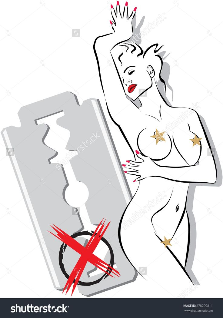 Female Body In A Pose With A Background A Razor. Vector Conceptual Art Illustration Items For Procedures Beauty, Fashion, Spa, Waxing, Bikini Wax, Underwear. - 278209811 : Shutterstock