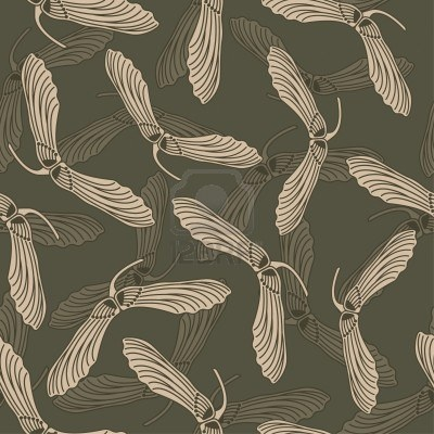 Modern Maple Seed wallpaper in the Art Nouveau style