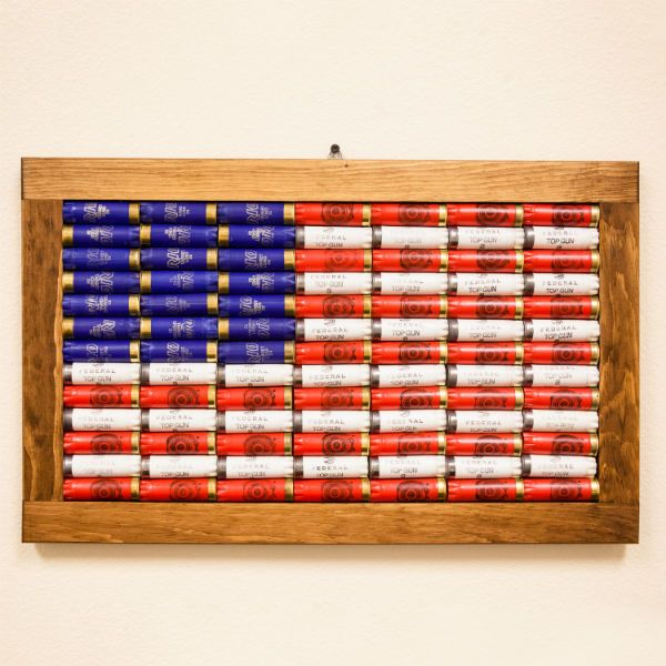 Show your pride with this 12 gauge American Flag Wall Art. Made from 91 genuine…