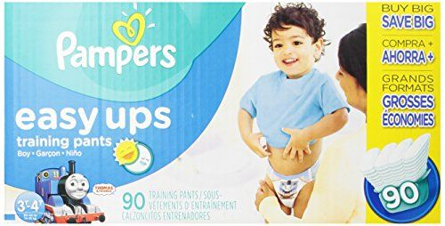 Pampers Easy Ups Boys Size 3T4T Value Pack, 90 Count   Pampers Easy Ups Boys Size 3T4T Value Pack, 90 Count Potty training makes sense with Pampers Easy Ups! You and your little boy will know when he's ready for potty training. That's why Pamper Easy Ups Training Pants are designed for when he's ready for potty training during the day, but still needs protection at night. Plus, they hold 25% more than the leading Huggies Pull Ups Learning Designs. And Pampers Easy Ups absorb quicker ..