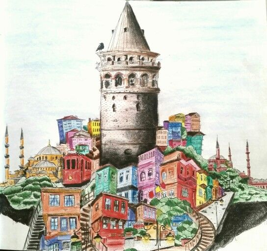City colours #renklerinsehri #colour #cities #istanbul #reference #draw #drawing #art #wow