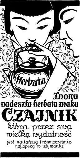 Herbata CZAJNIK - reklama prasowa, 1924 rok