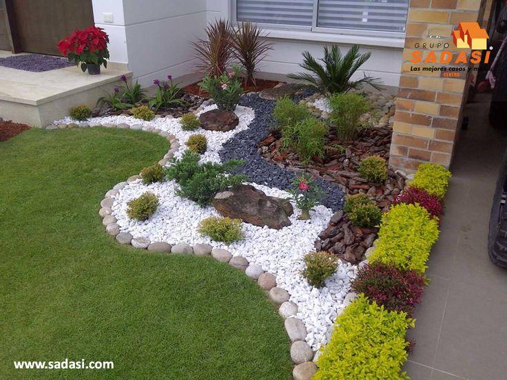 Mejores 136 im genes de jard n decorado con piedras en for Jardines decoraciones plantas