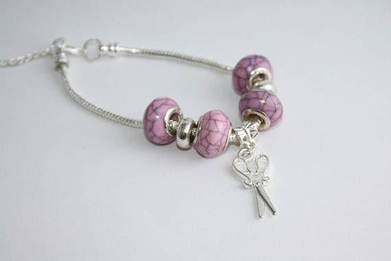 Scissors Charm Bracelet Hairstylist Gift Stocking Stuffer - Three C Jewelry