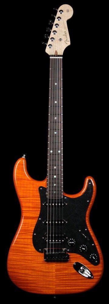 Fender Custom Shop 2011 Custom Deluxe Stratocaster Electric Guitar Sunset Orange Transparent